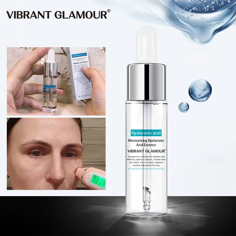 VIBRANT GLAMOUR Hyaluronic Acid Shrink Pore Face Serum Anti-Aging Whitening Moisturizing Essence Fac