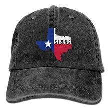 RZM YLYs Texas Strong Unisex dla dorosłych Vintage sprane dżinsy regulowana czapka z daszkiem