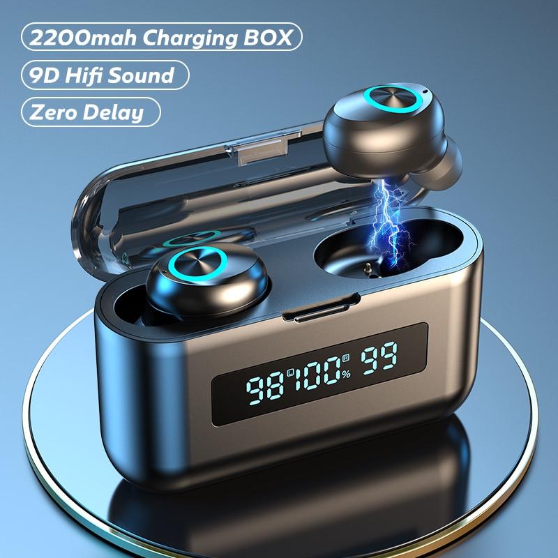 TWS Wireless Headphones 2200Mah Charging Box Sports Waterproof Earbuds Bluetooth-compatible 5.0 Earp