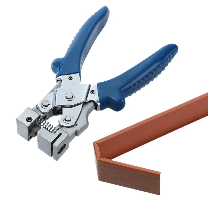 Um-tempo alicate de dobramento slot de fio tesoura ângulo elétrico 45 graus 90 carpintaria cartão tira alicate de dobramento