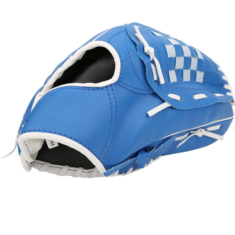 Плотные бейсбольные перчатки из ПВХ, тренировочные перчатки для соревнований для взрослых и детей, плотные бейсбольные перчатки (коричневы...