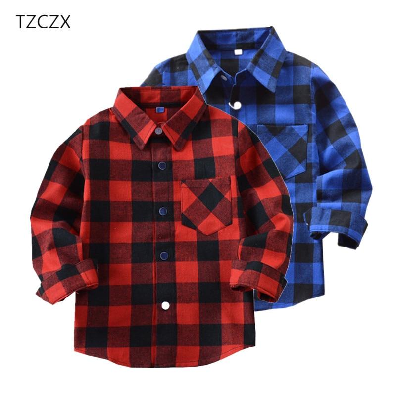 Venda quente meninos camisas clássico casual xadrez flanela crianças camisas para 2-11 anos crianças menino wear