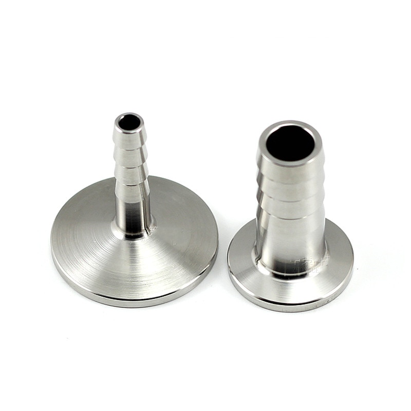 Stainless Steel 304 KF25 Flange Adapter for Vacuum Hose Barb Fittings Tubing Connector Joint