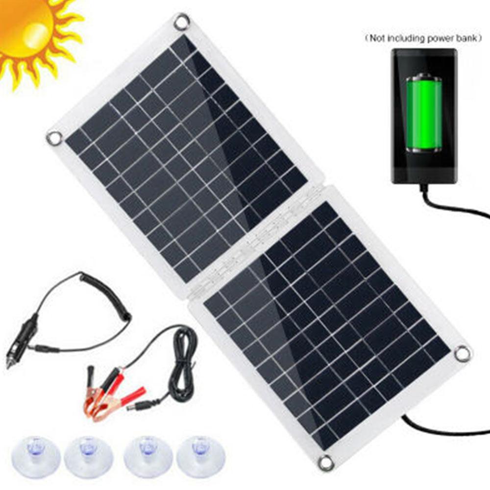 لوحة شمسية قابلة للطي 60 وات ، شاحن هاتف 18 فولت/12 فولت ، أداة شحن بطارية للتخييم والمشي لمسافات طويلة