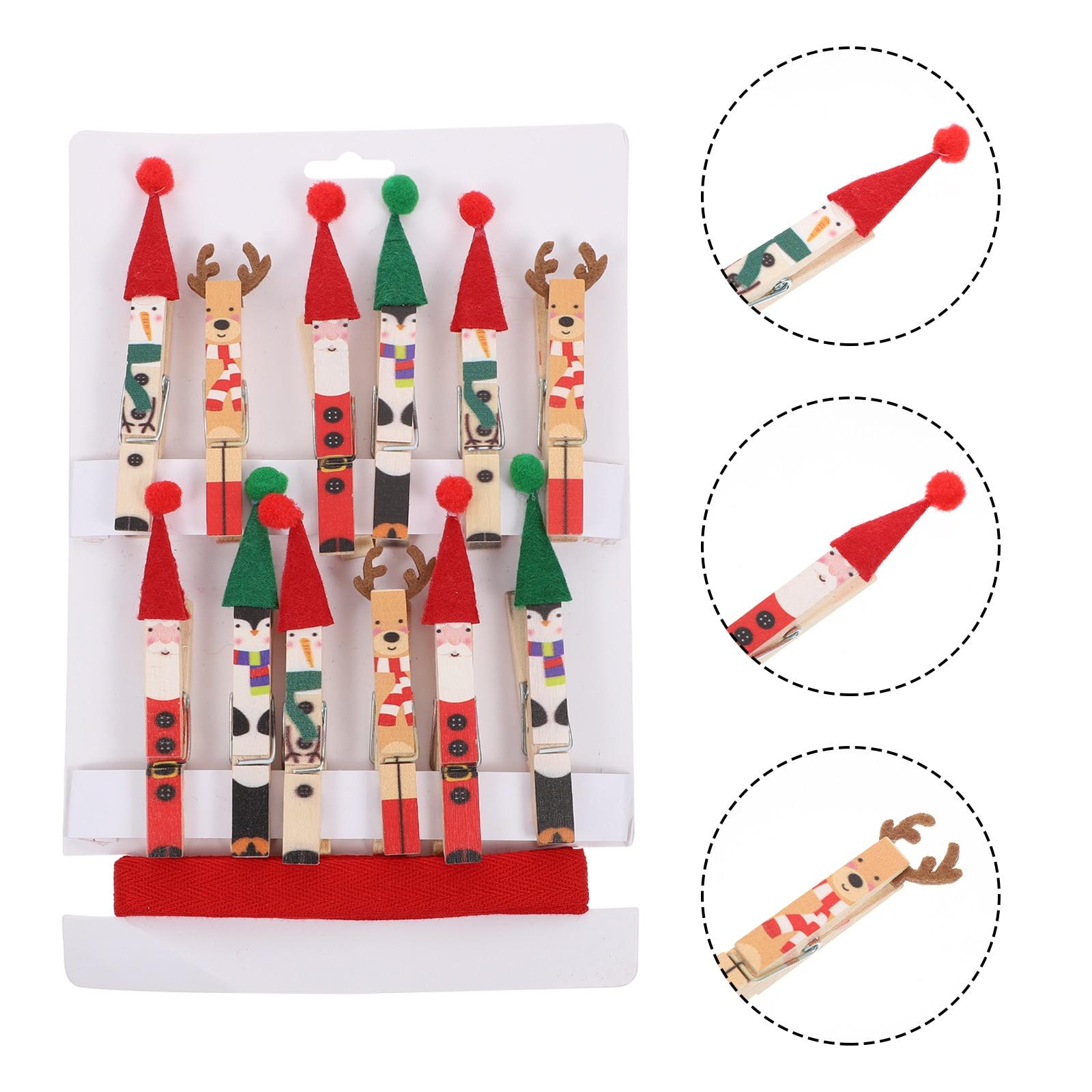 1 Набор креативных прищепки для фото, рождественские деревянные зажимы, фото зажимы Вечерние