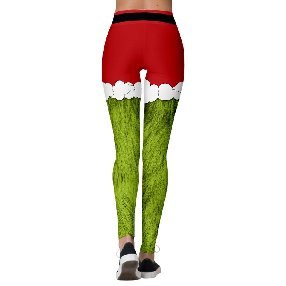 Christmas Belt Leggings Women Leggins Stripe Tribal Pocket Gift Autumn Winter Festival Legging Plus Size Patchwork Legging