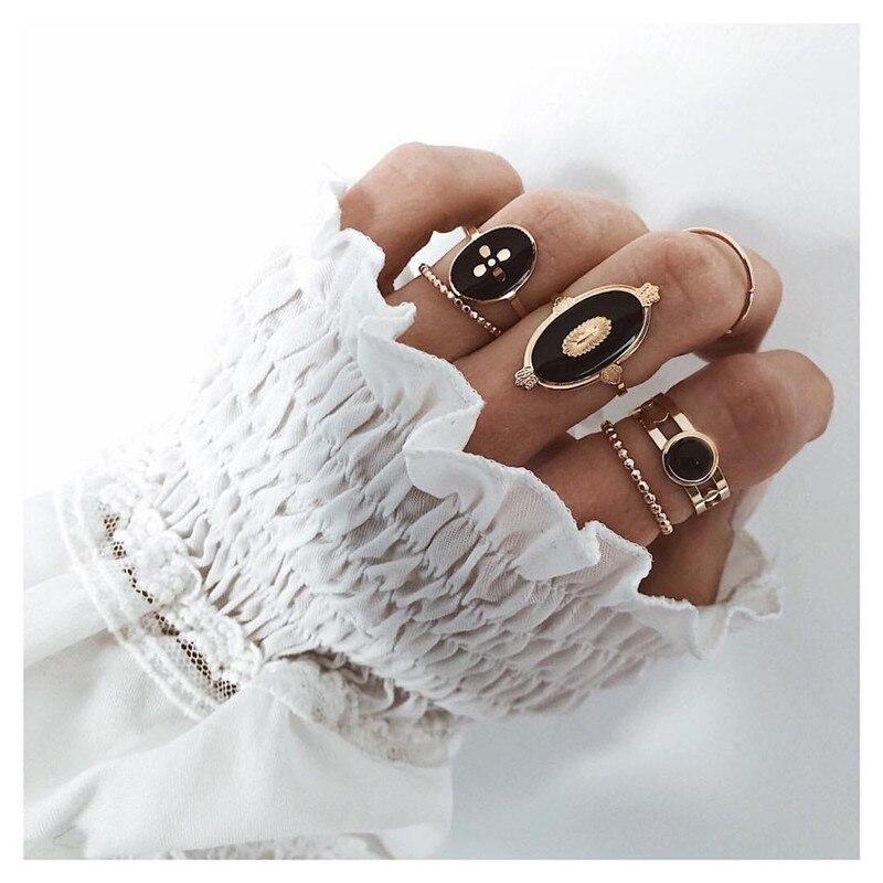 40 Design Vintage Gold Star Mond Ringe Set Für Frauen BOHO Opal Kristall Midi Finger Ring Weibliche Böhmischen Schmuck Geschenke