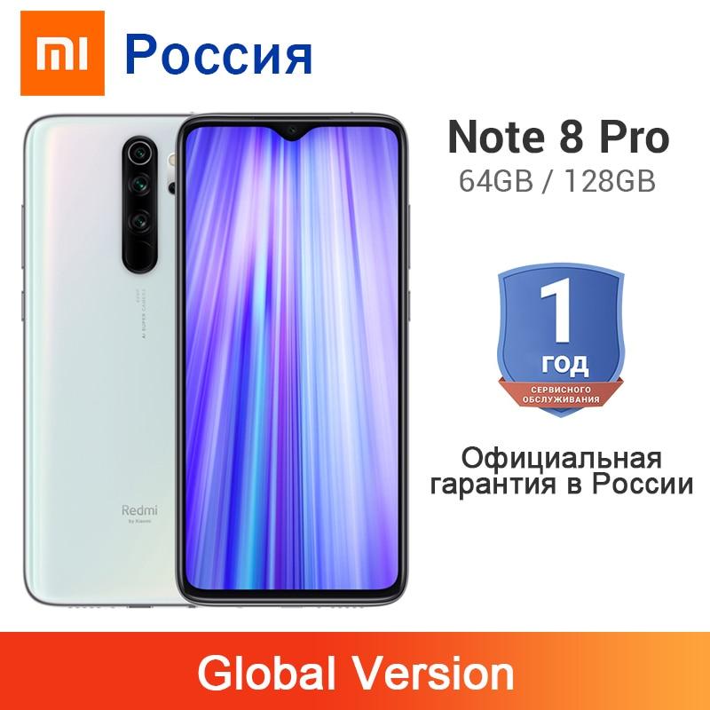 Global Version Xiaomi Redmi Note 8 Pro 6GB 64GB / 128GB 64MP 4 Cameras 4500mAh MTK Helio G90T NFC Mobile Phone Liquid Cooling