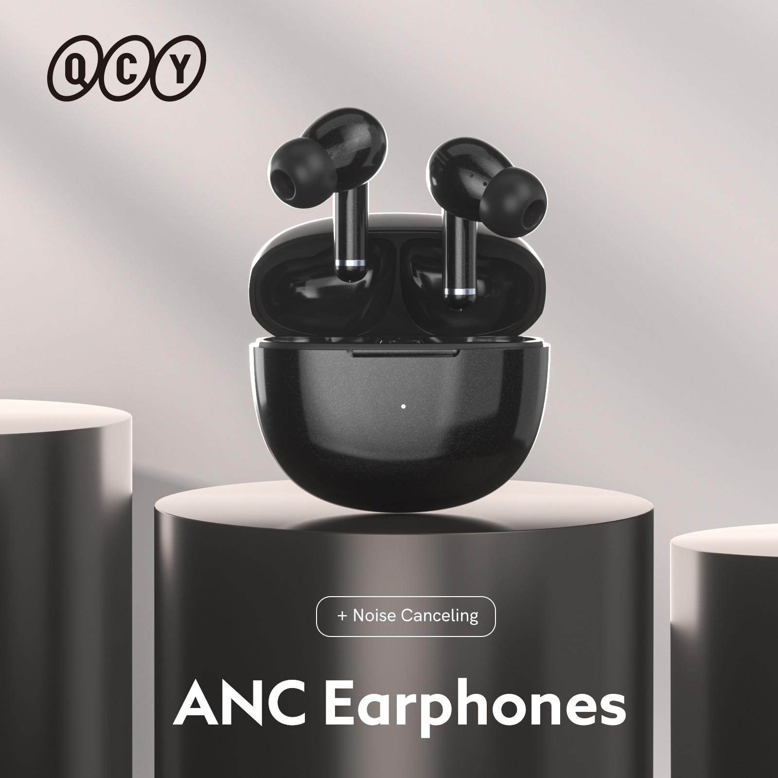 QCY HT03 TWS ANC Fone سماعات بلوتوث إلغاء الضوضاء سماعات لاسلكية الألعاب سماعة مزودة بميكروفون سماعة أذن حر اليدين