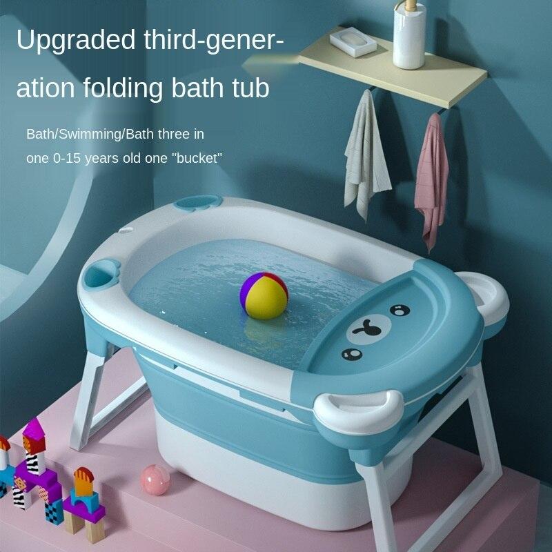 حوض استحمام قابل للطي للأطفال ، حوض استحمام ذكي مع مستشعر درجة الحرارة ، حوض استحمام سميك للأطفال ، مستلزمات صديقة للبيئة