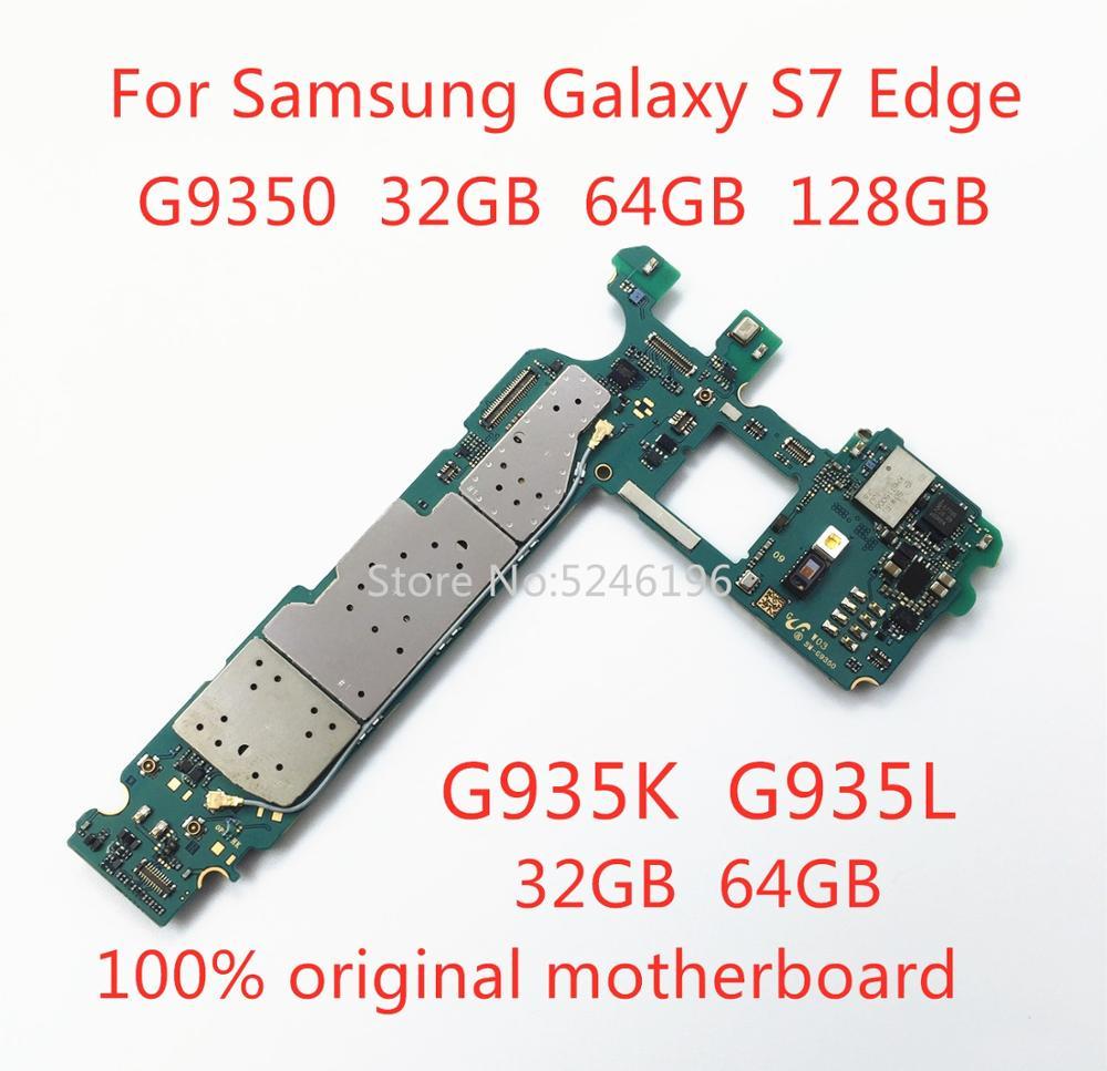 تنطبق على سامسونج غالاكسي S7 حافة G9350 32 جيجابايت 64 جيجابايت 128 جيجابايت G935S G935K G935L 32 جيجابايت 64 جيجابايت الأصلي مقفلة اللوحة استبدال