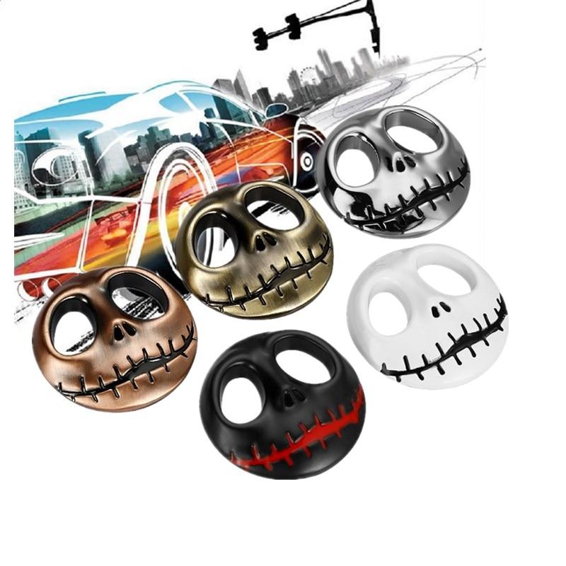Regalo de Halloween 3D cráneo pegatinas coche Metal fantasma para Harley Davidson moto rcycle Auto moto pegatina coche-estilismo para kia, chevrolet