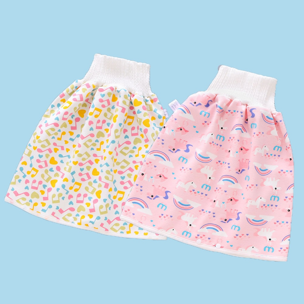 2-piece baby washable and reusable waterproof, leak-proof or diaper training hakama, children's nocturnal urine artifact, pure c