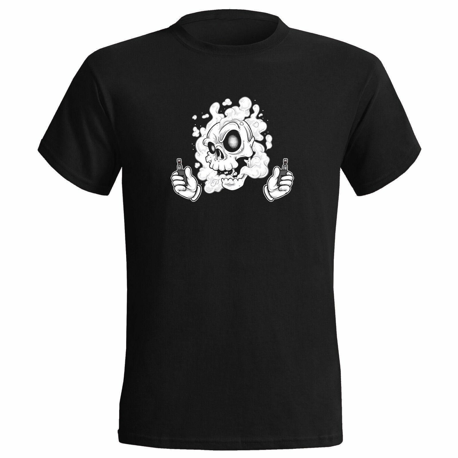 Dois mod nuvem chaser t camisa das mulheres dos homens vape crânio esqueleto amor para fumar presente ginásio roupas esportivas topos camiseta