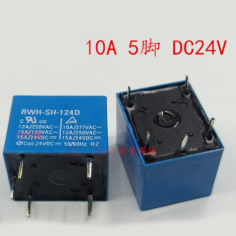 New 10PCS/LOT RWH-SH-124D 24V DC24V 10A 5PIN