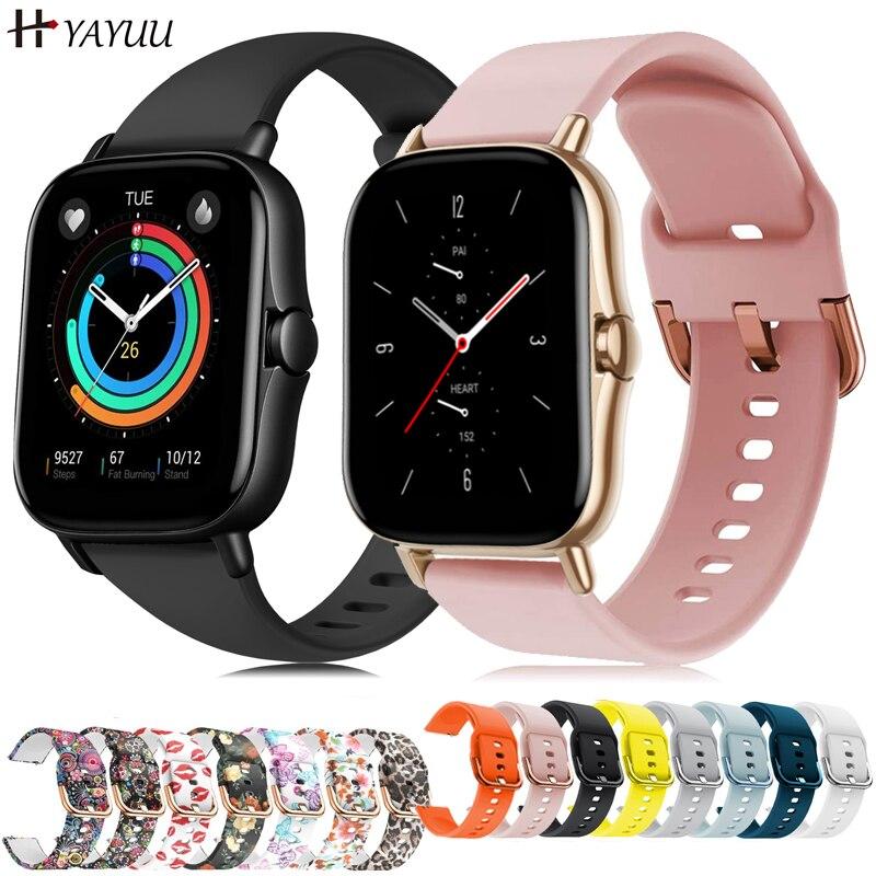 YAYUU 20mm Silicone Watch Strap for Huami Amazfit GTS 2/GTS 2 mini/GTS 2e Bracelet for Amazfit Bip U/U Pro/GTR 42mm Watch Bands