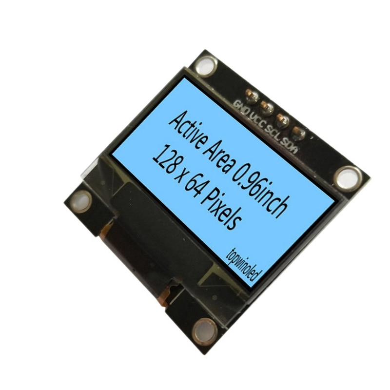 0,96 pulgadas de pantalla OLED 128X64 I2C/CII LCD Módulo de pantalla Sn 4Pin/interfaz IIC SSD1309