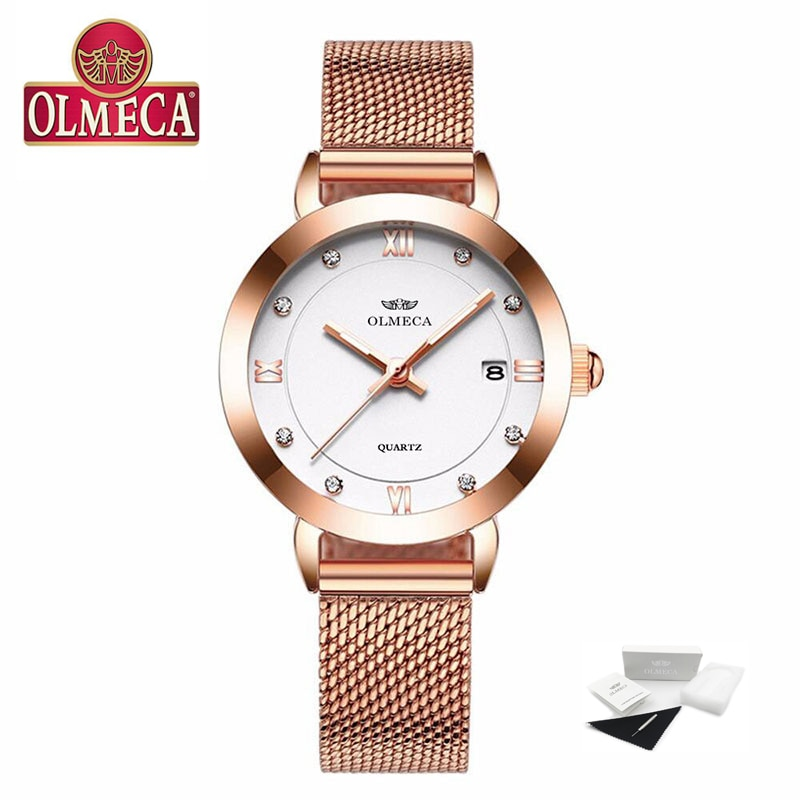 Top Brand Luxury Women Watches OLMECA Watch Fashion Relogio Feminino Casual montre femme Waterproof Wrist Watch Leather Band enlarge