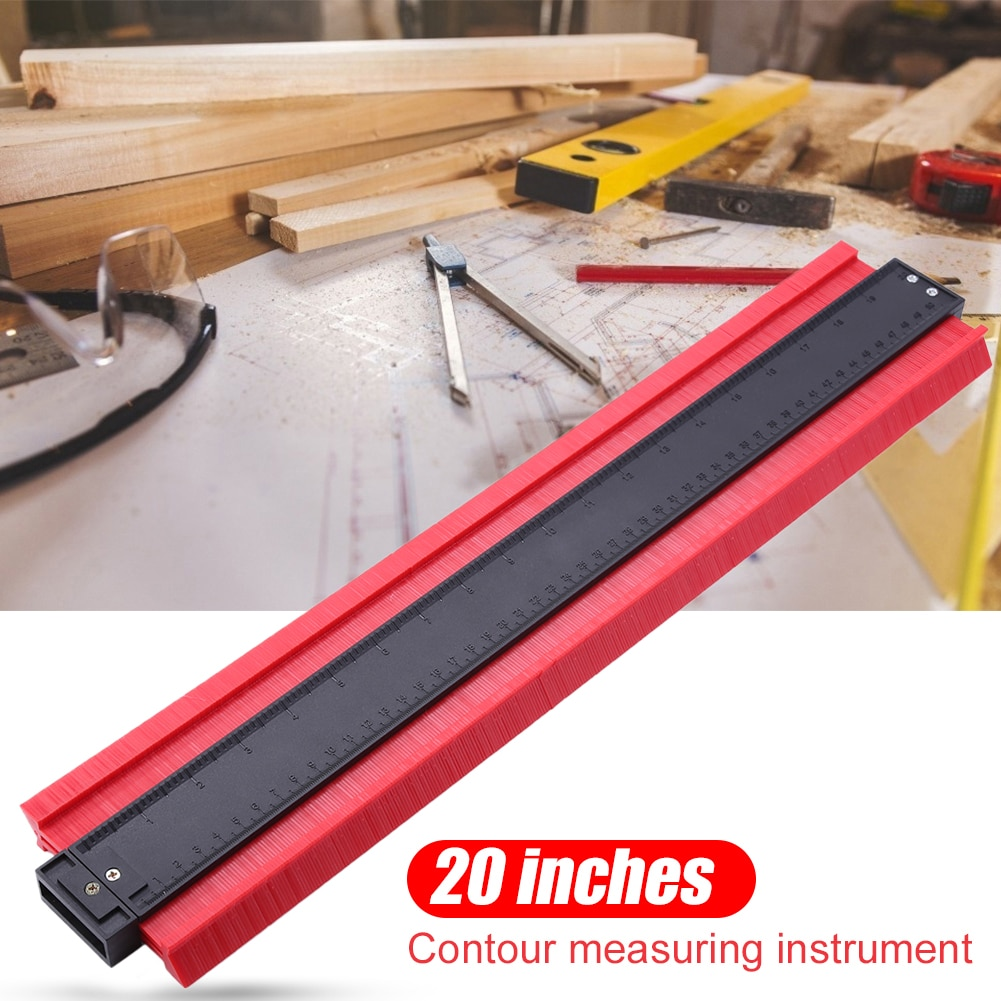 5/6/10/20 Inch Plastic Profile Copy Gauge Contour Gauge Duplicator Standard Wood Marking Tool Tiling Laminate Tiles General Tool
