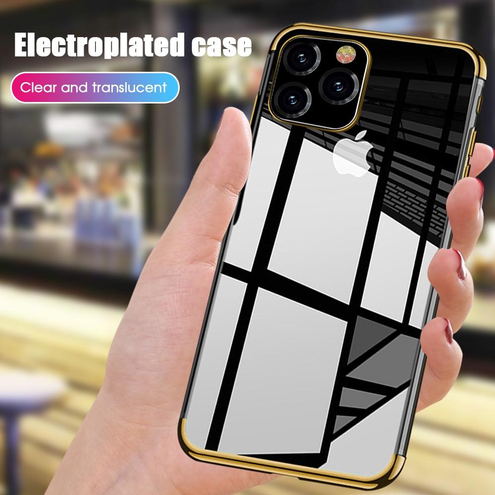 Роскошный чехол для iPhone 11, 2019, кристальная резиновая оправа, ТПУ чехол для iPhone 11 Pro Max XS 7 8 6 6s Plus XR X, силиконовый чехол