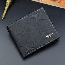 Men Short Bifold Faux Leather Masculina Billetera Credit ID Card Holder Wallet Billfold Purse Clutch