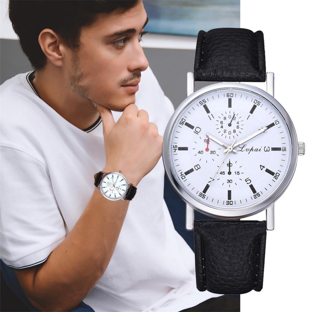 Relógio de pulso de quartzo de 3 janelas relógio de pulso de casal sevgili saati elegante cobra macia impressa pulseira de couro do plutônio
