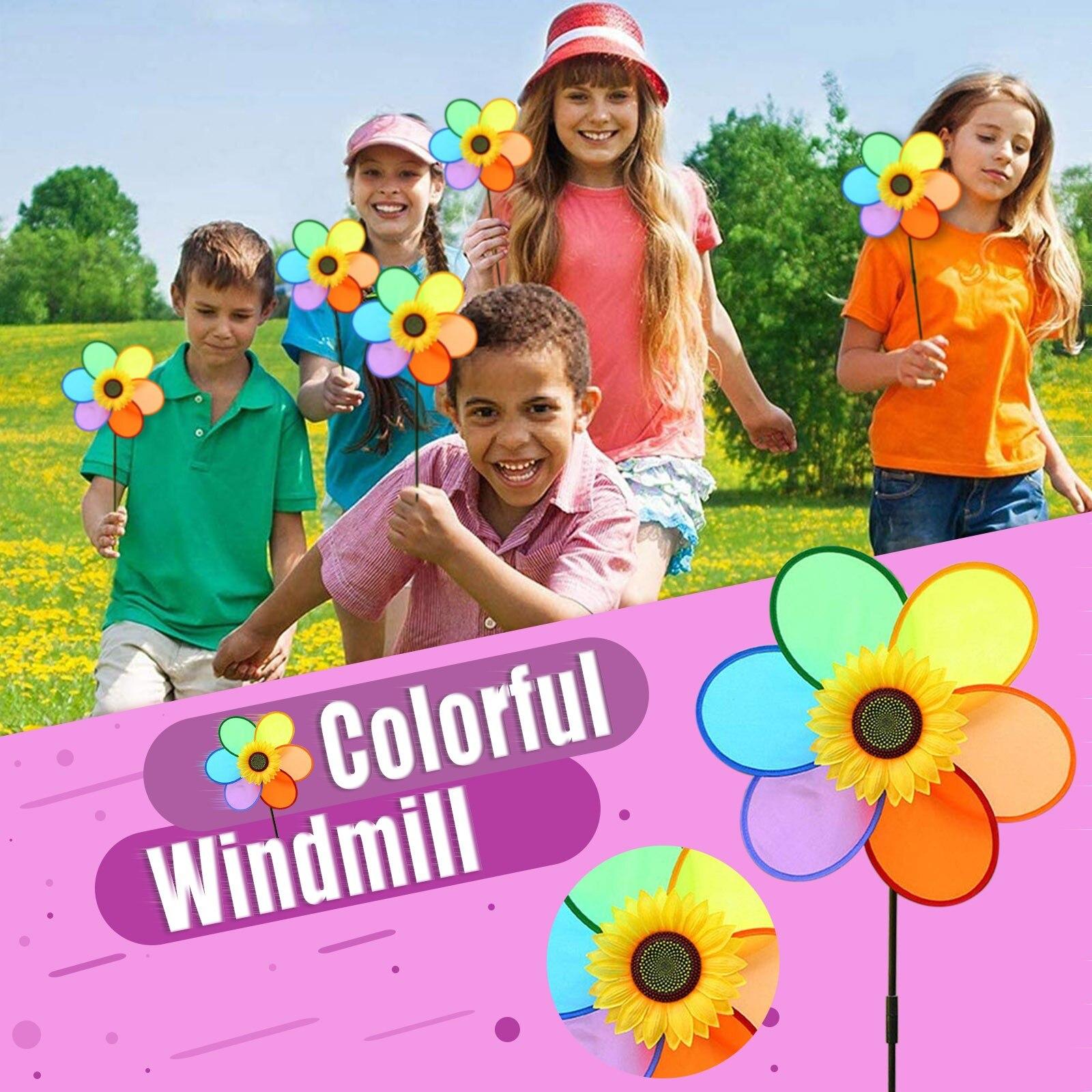 DIY Multicolour  Windmill Garden Lawn Windmill Decoration Outdoor Decoration Windmill Outdoor Decoration