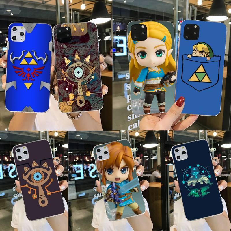 HPCHCJHM Zelda Sheikah pizarra negro suave del teléfono de Shell caso Capa para iPhone 11 pro XS MAX 8 7 6 6S Plus X 5S SE 2020 XR cubierta