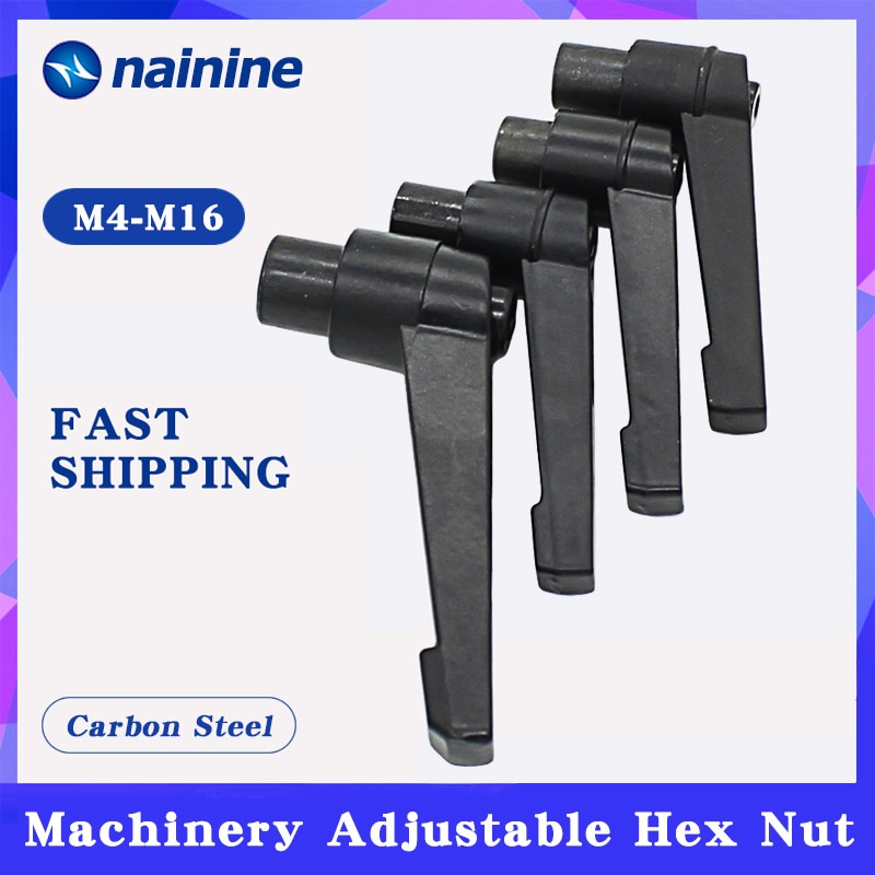 2 unidades, M4 M5 M6 M8 M10 M12 M14 M16, maquinaria de palanca de sujeción, manija de tuerca ajustable, bloqueo, perilla de rosca macho externa, tuerca hexagonal