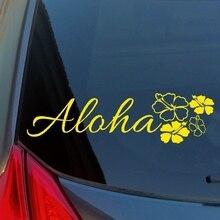 Aloha Hibiscus Cluster vinyle autocollant autocollant ordinateur camion maison mur Hawaii fleur
