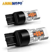ANMINGPU – feu de signalisation de freinage 1x, 7443 W21/5W T20 Led 7440 W21W WY21W 3030SMD 3156 P27W Led 3157 P27/7W T25