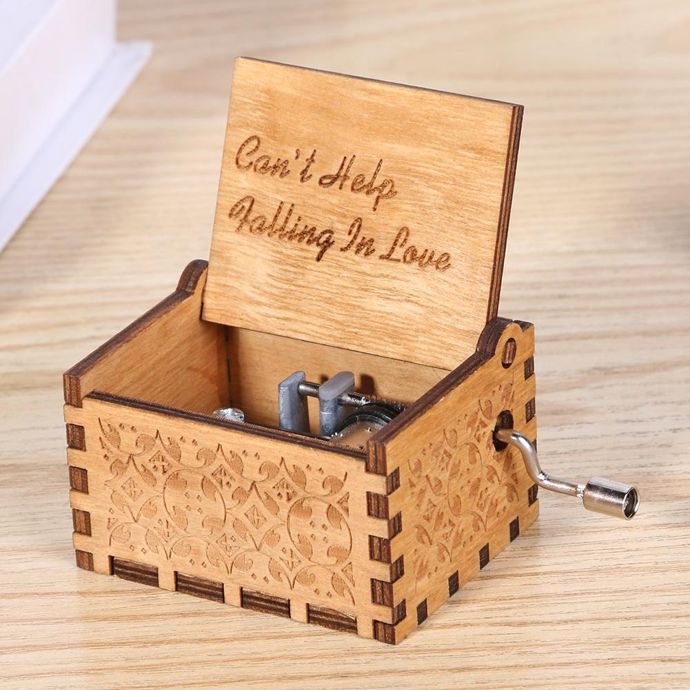 Fait à LA main en bois sculpté Bella Ciao LA CASA DE PAPEL Salvador Dali boîte à musique à LA main manivelle boîte à musique garçon cadeau danniversaire cadeau