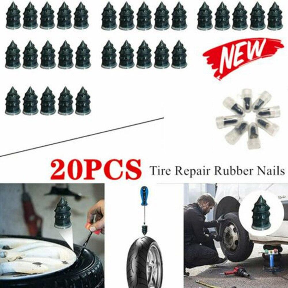 Шипы для автомобильных и мотоциклетных шин, ремонт бескамерных шин, Ремонт Резиновых гвоздей, 20 шт./компл.