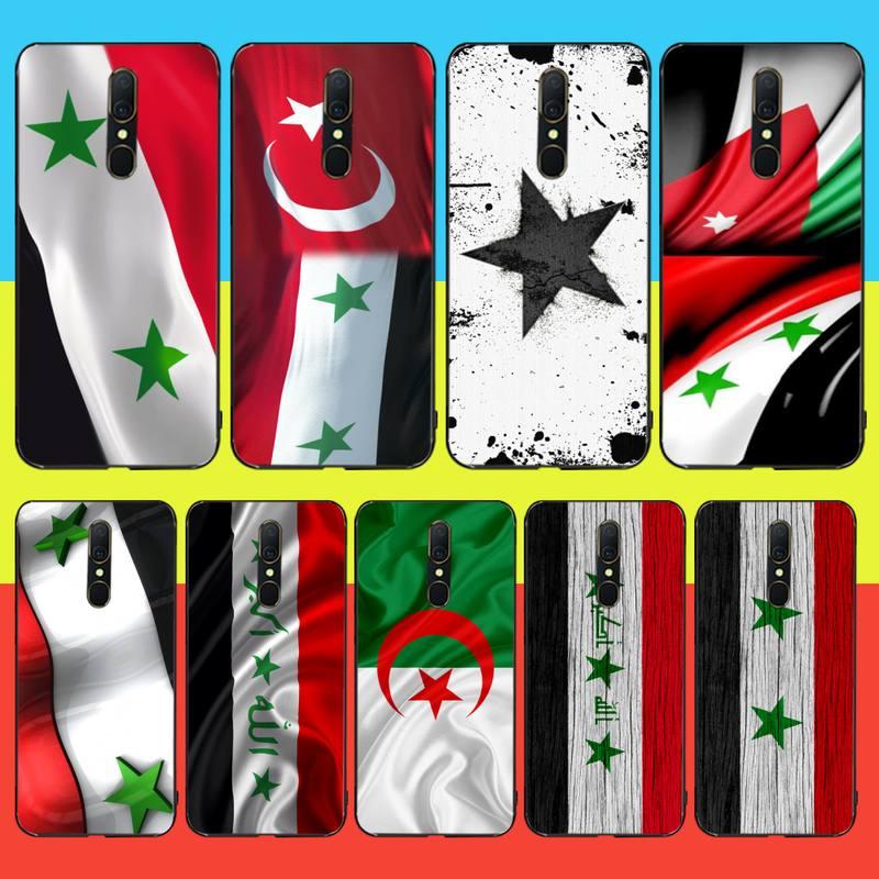 Funda de teléfono negro CUTEWANAN con bandera de Siria de TPU para Oppo A5 A9 2020 Reno Z Realme5Pro R11
