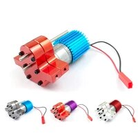speed change gear box metal gearbox with 370 brush motor anodizing treatment for heatsink and mount base for wpl 1633 rc car