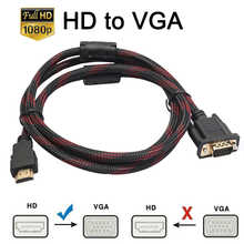 HDMI-compatible Adapter Full HD 1080P HDMI-compatible Male To 15 Pin VGA Connector Adapter Converter Cable For HDTV