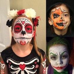 Recém rosto conjunto de pintura corporal 15 cores maquiagem paleta lavável para trajes festas teatro efeitos especiais e festivais cla88
