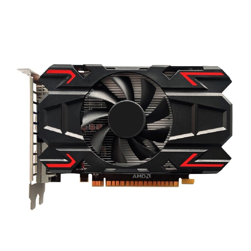 بطاقة بيانية للكمبيوتر AMD HD6770 1GB DDR5 128 Bit PCIE 2.0 HDMI متوافق + VGA + DCI واجهة مع مروحة تبريد