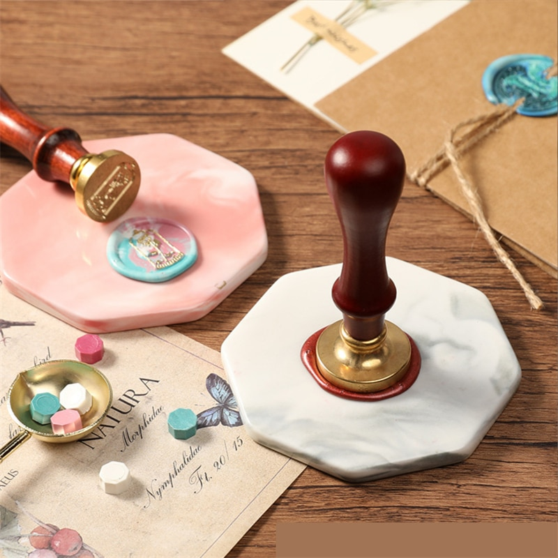 2021 Girl Powder Crystal Sealing Wax Pad Fire Paint Stamping Template Fire Paint Wax Label Making Tool Paint Wax Crystal stone