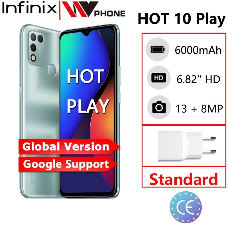 Перейти на Алиэкспресс и купить Infinix Горячая 10 игровой смартфон глобальная версия 2 Гб оперативной памяти, 32 Гб встроенной памяти 4 Гб 64 Гб 6,82 ''HD + Дисплей 6000 мА/ч, Helio G25 G35 моби...