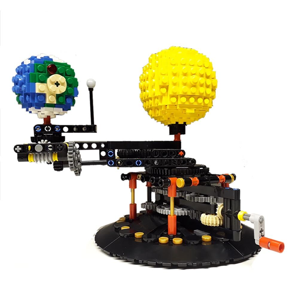 Bloque tierra 4477 tierra, Luna y sol modelo mundo DIY diamante mini micro bloques de construcción ladrillos juego de ensamblaje