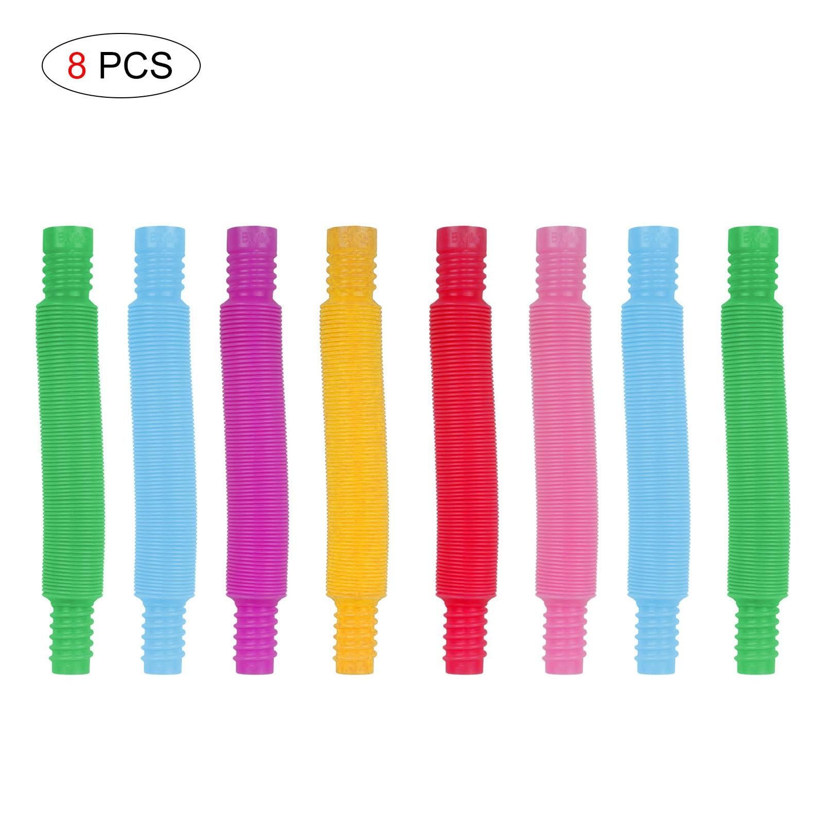 Kids Mini Pop Tubes Fidget Toy Stress Relief Sensory Adult Decompression Educational Mini Finger Squ