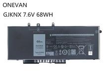 ONEVAN GJKNX Laptop Battery For Dell Latitude E5480 E5580 E5490 E5590 Precision M3520 M3530 GD1JP 7.6V 68WH High Capacity