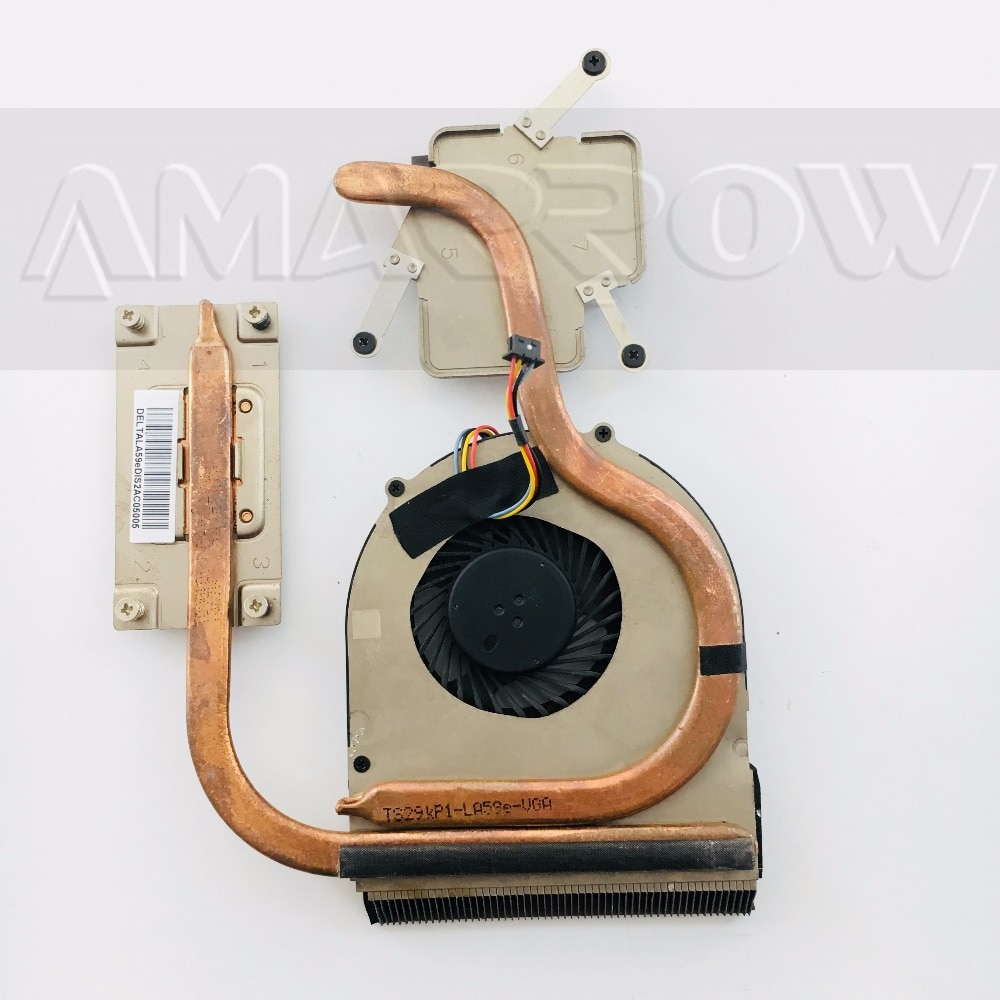 Original envío gratuito CPU disipador ventilador de refrigeración para Lenovo V580 B580 B590 60.4XB16 001
