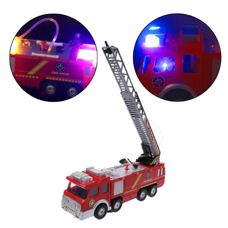 enlighten 970pcs fire rescue headquarters sation centre helicopter truck fireman assemble toy car building blocks toys Spray Water Truck Toy Fireman Fire Truck Car Music Light Educational Toys Boy Kids Toy Gift 19QF