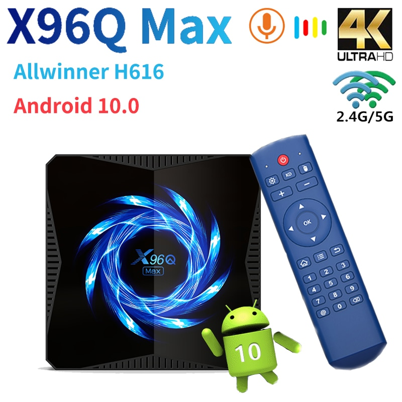 X96Q Max TVBOX 6K 4K Android 10 Smart Tv Box Allwinner H616 медиаплеер 2,4G/5G Wifi BT5.0 Google Play телеприставка 4 Гб 64 ГБ