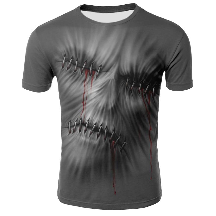 Verão dos homens t-shirts casual o-pescoço manga curta t topos hip hop estilo roupas moda streetwear crânio 3d t camisa masculina