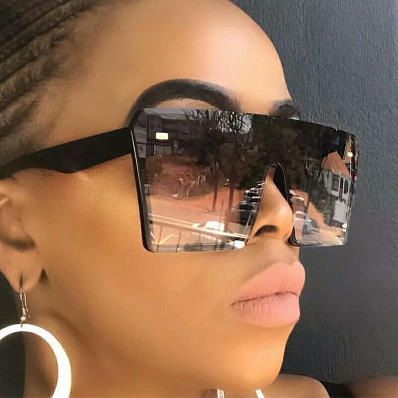 2020 Fashion Oversized Square Sunglasses Retro Gradient Big Frame Sun Glasses For Women One Piece Ga