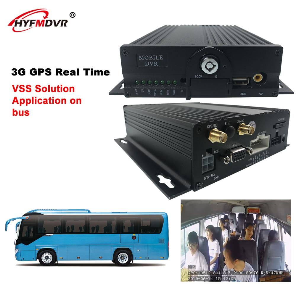 HYFMDVR más seguro 4 canales Universal HD coche DVR 3G GPS móvil Dvr