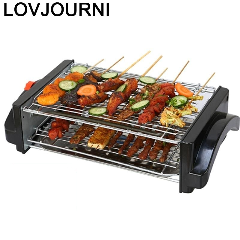 Parrilla De Kebab Electrique Mangal Malzemeleri Raclette Fire Pit Barbacoa Churrasqueira Barbecue for Outdoor Electric Bbq Grill